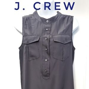 JCrew charcoal gray sleeveless top